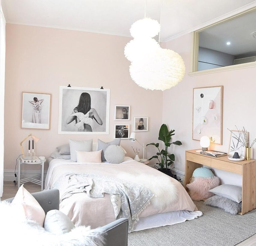 Cozy Teen Bedroom Decoration On Pink Style 07