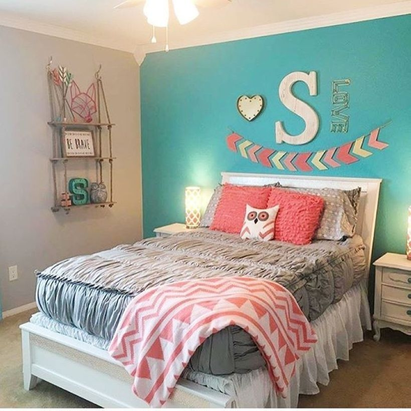 Cozy Teen Bedroom Decoration On Pink Style 31
