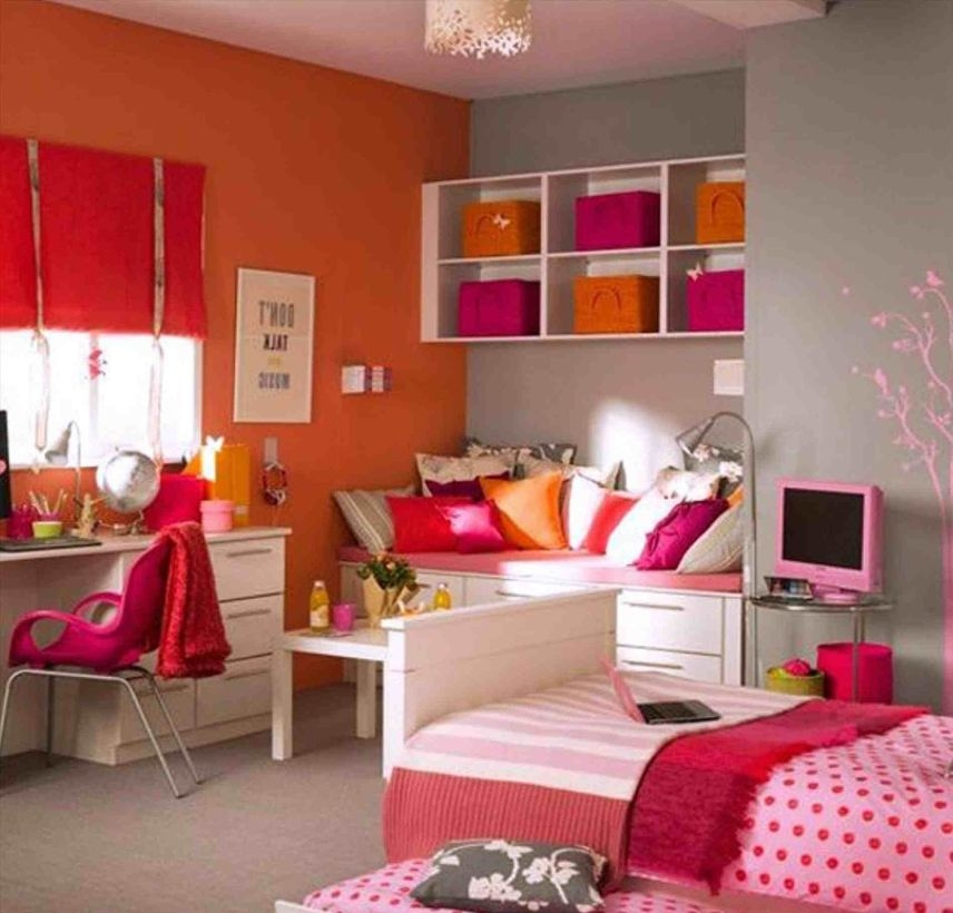 Cozy Teen Bedroom Decoration On Pink Style 33