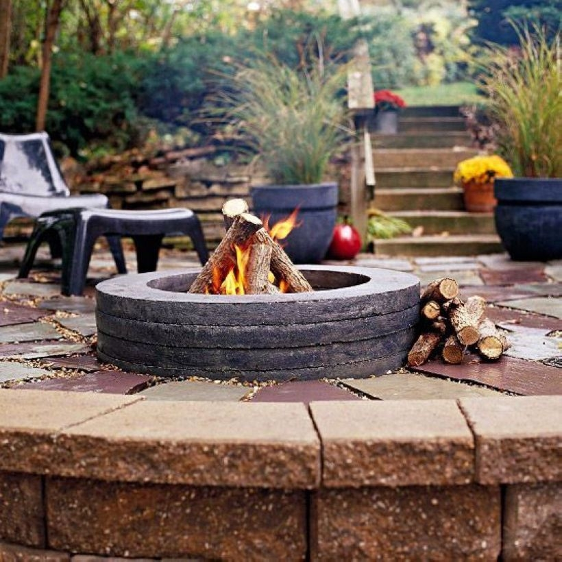 How To Make DIY Fire Pit In Garden With Low Budget 11