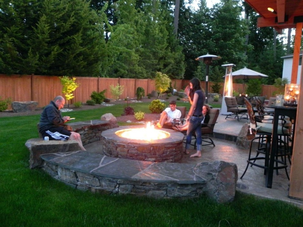 How To Make DIY Fire Pit In Garden With Low Budget 35