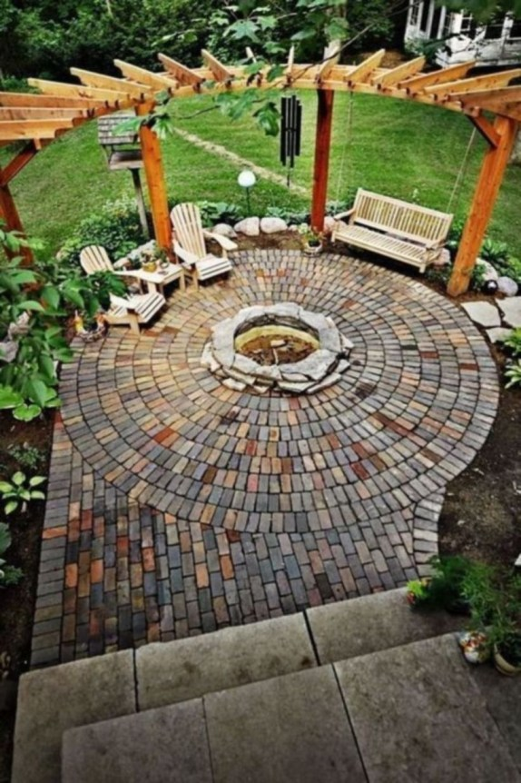 How To Make DIY Fire Pit In Garden With Low Budget 40