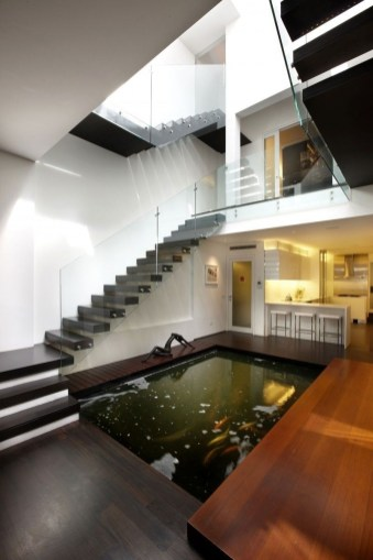 Amazing Indoor Fish Pond To Upgrade Your House 55