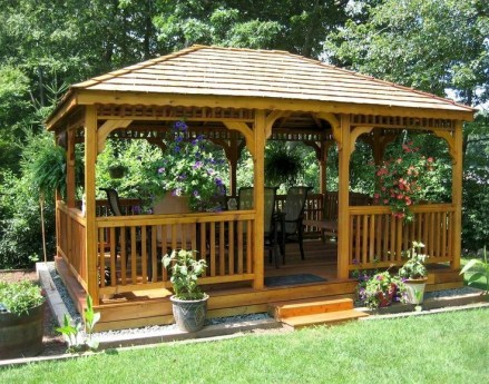 Best Backyard Gazebo Made From Pallets 40