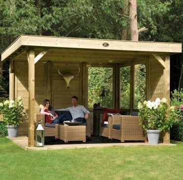 Best Backyard Gazebo Made From Pallets 43