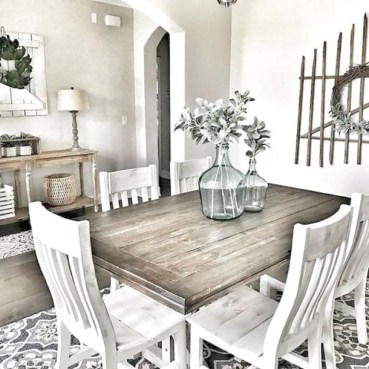 Best Decoration French Farmhouse Dining Room Design 06