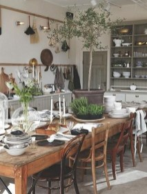 Best Decoration French Farmhouse Dining Room Design 13