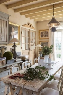 Best Decoration French Farmhouse Dining Room Design 21
