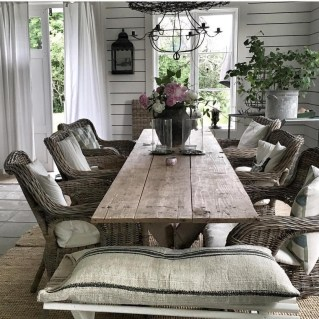 Best Decoration French Farmhouse Dining Room Design 22