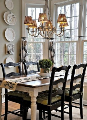 Best Decoration French Farmhouse Dining Room Design 25