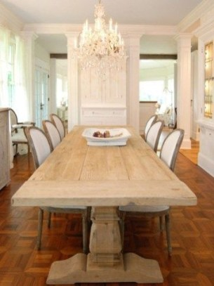 Best Decoration French Farmhouse Dining Room Design 42