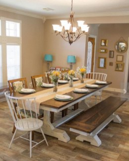 Best Decoration French Farmhouse Dining Room Design 46