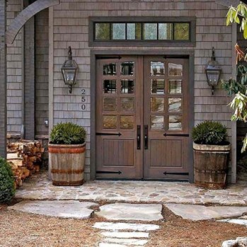 Farmhouse Door Design For Decorating Your House 18