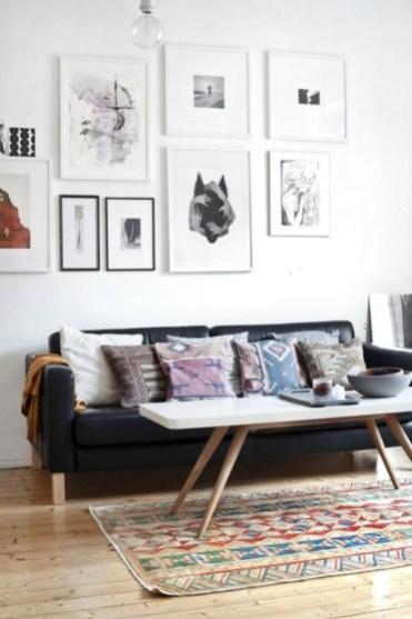 How To Create Wall Gallery In Above The Sofa 03