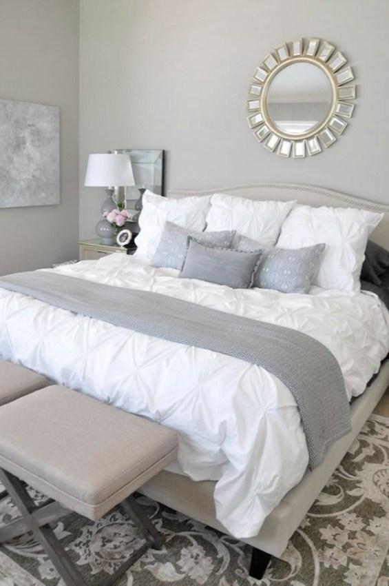 Love The Neutral Color For Master Bedroom Idea 43
