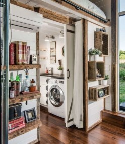 Perfect Laundry Room Decor In Your Tiny House 40