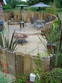 Simply Impressive Sitting Areas For Backyard Landscape 04