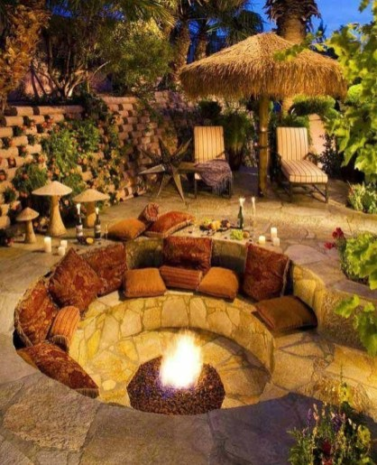 Simply Impressive Sitting Areas For Backyard Landscape 09