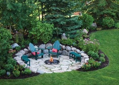 Simply Impressive Sitting Areas For Backyard Landscape 14