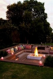 Simply Impressive Sitting Areas For Backyard Landscape 41