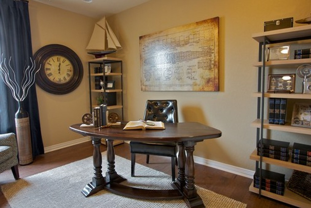44 Modern Rustic Decorating Ideas For Your Home Office 03