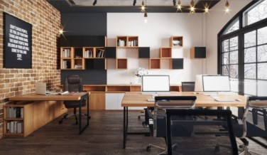 44 Modern Rustic Decorating Ideas For Your Home Office 11