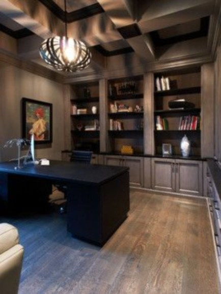 44 Modern Rustic Decorating Ideas For Your Home Office 17
