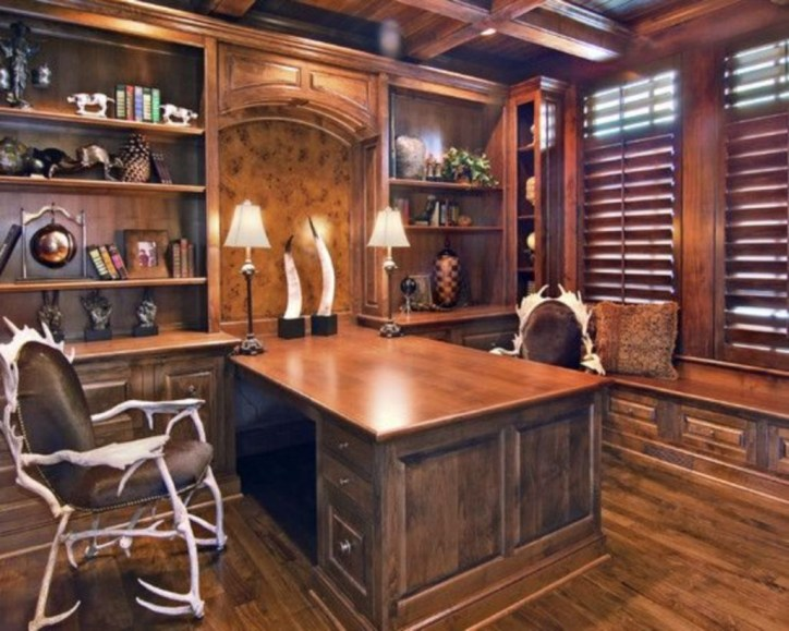44 Modern Rustic Decorating Ideas For Your Home Office 18