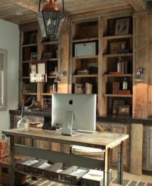 44 Modern Rustic Decorating Ideas For Your Home Office 22