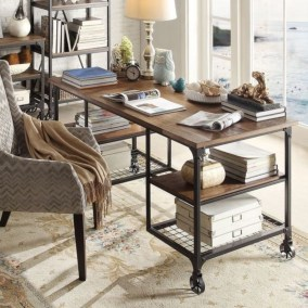 44 Modern Rustic Decorating Ideas For Your Home Office 28