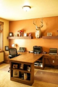 44 Modern Rustic Decorating Ideas For Your Home Office 32