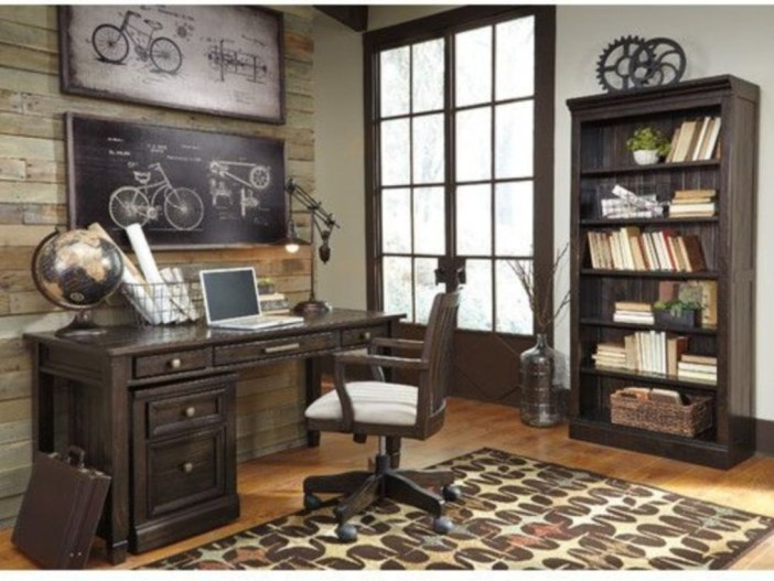 44 Modern Rustic Decorating Ideas For Your Home Office 43