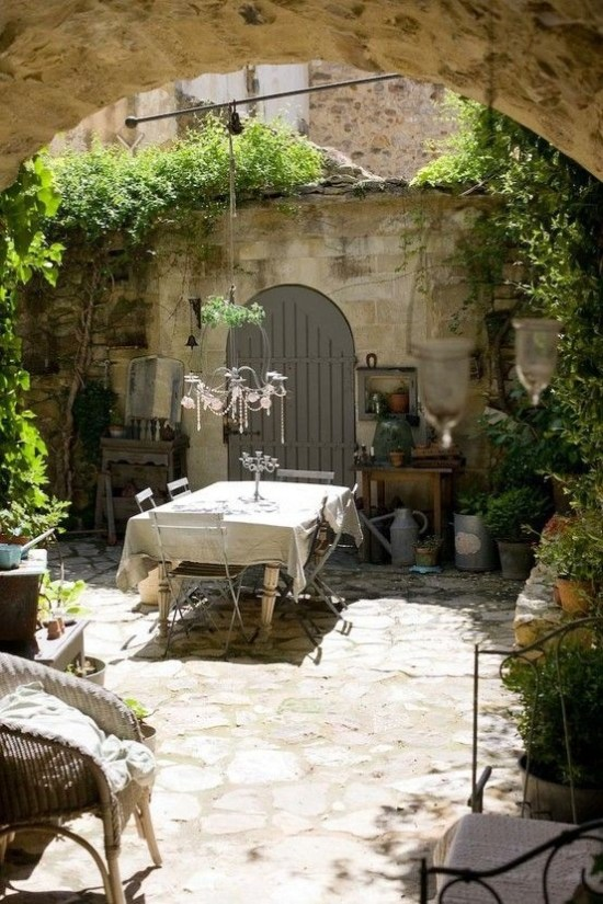 A Cozy Backyard France Terrace Ideas 37
