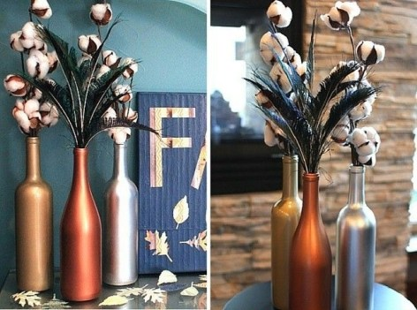 Amazing Inspiration With Bottle Christmas Vases You Can Try 08