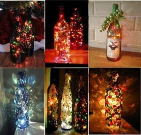 Amazing Inspiration With Bottle Christmas Vases You Can Try 31