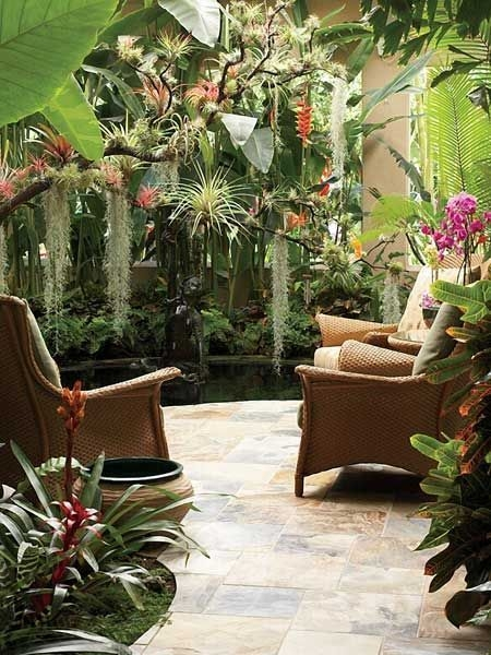 Beautiful Tropical Outdoor Decoration For Cozy Place 27