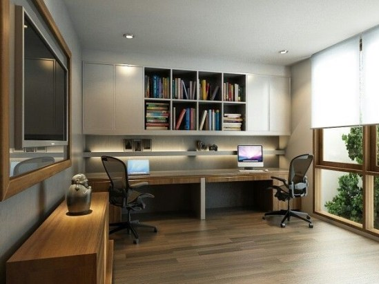 Best Decorating Ideas For Home Office Design 06
