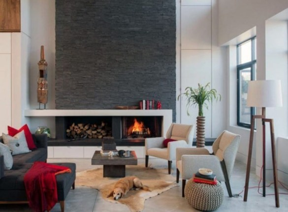 Best Decorating Ideas For Winter Fireplace 47