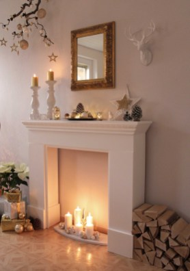 Best Decorating Ideas For Winter Fireplace 50
