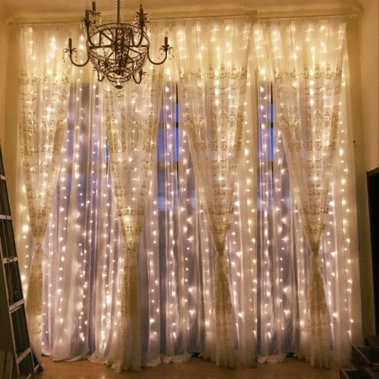 Better Homes And Gardens With Outdoor LED Curtain Lights 37