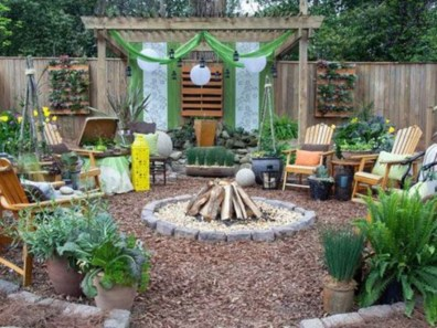 DIY Wood Project For Landscaping Backyard Ideas 17