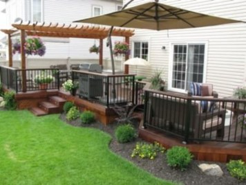 DIY Wood Project For Landscaping Backyard Ideas 19