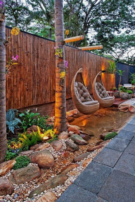 DIY Wood Project For Landscaping Backyard Ideas 26