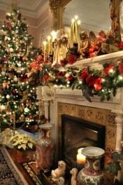Gorgeous Christmas Mantel For Fireplace Decorate In Your House 01