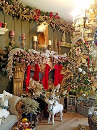 Gorgeous Christmas Mantel For Fireplace Decorate In Your House 09