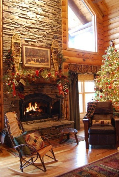 Gorgeous Christmas Mantel For Fireplace Decorate In Your House 16