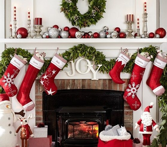 Gorgeous Christmas Mantel For Fireplace Decorate In Your House 26