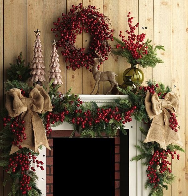 Gorgeous Christmas Mantel For Fireplace Decorate In Your House 29
