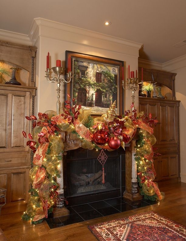 Gorgeous Christmas Mantel For Fireplace Decorate In Your House 49