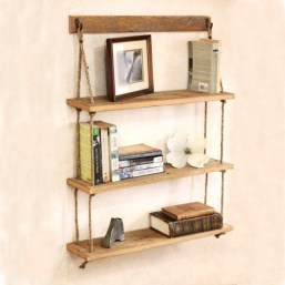 Hanging Shelves Decoration You Can Put In Your Wall 19